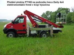 Plošina PT165 na podvozku Iveco Daily 4x4