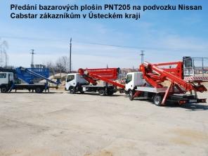 Plošiny PNT205 na podvozku Nissan Cabstar 35.12