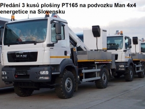 Plošiny PT165 na podvozku Man 4x4