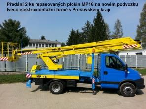 Repasovaná plošina MP16 na podvozku Iveco Daily 65C15