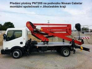 Plošina PNT205NH na podvozku Nissan Cabstar 35.12