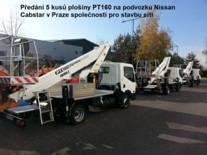 Plošiny PT160 na podvozcích Nissan Cabstar