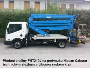 Plošina PNT210J na podvozku Nissan Cabstar