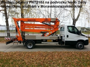 Plošina PNT210J na podvozku Iveco Daily 50C15