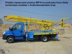Repasovaná plošina MP16 na podvozku Iveco Daily