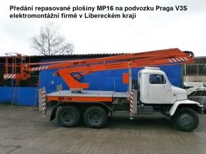 Repasovaná plošina MP16 na podvozku Praga V3S