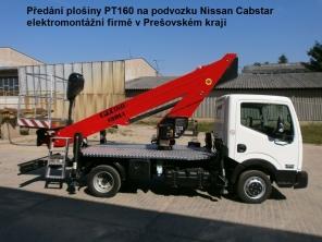 Plošina PT160 na podvozku Nissan Cabstar