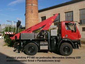Plošina PT160 na podvozku Mercedes Unimog U20