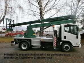 Repasovaná plošina MP13 na podvozku Isuzu