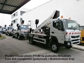 Plošina PT160 na podvozku Mitsubishi Fuso 4x4