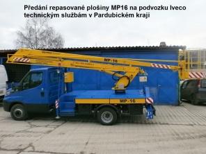 Repasovaná plošina MP16 na podvozku Iveco