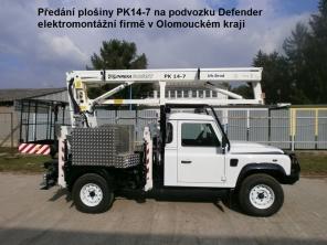 Plošina PK14-7 na podvozku LR Defender