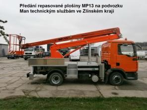Repasovaná plošina MP13 na podvozku Man
