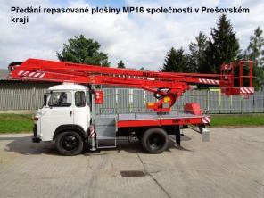 Repasovaná plošina MP16 na repasovaném podvozku Avia