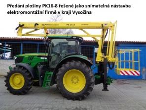 Plošina PK16-8 na traktoru